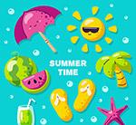 彩色夏季元素