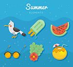 夏季海滩元素