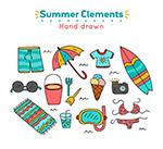 手绘夏季元素