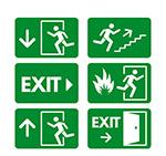 绿色安全出口标志