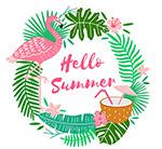 夏季元素圆环