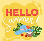 夏季度假物品艺术字