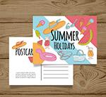 夏季元素明信片