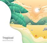 复古热带自然风景