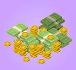 立体现金和金币