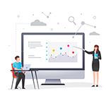 创意网络教学插画