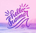 大海风景夏季艺术字