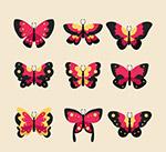 红色蝴蝶设计
