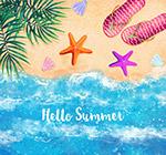 夏季大海沙��