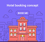 预定酒店概念图
