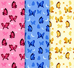彩色蝴蝶�o�p背景