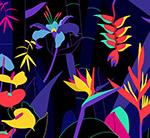 创意热带花草