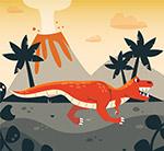 恐��和火山矢量