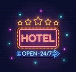 彩色酒店霓虹��