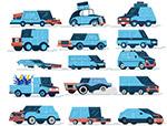 蓝色车辆设计
