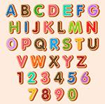 彩色饼干字母数字