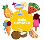 创意夏季食物框架