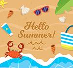 夏季度假大海沙滩