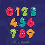 彩色可爱表情数字