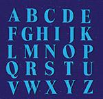 蓝色字母设计