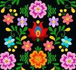 彩色抽象花卉