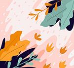抽象树叶设计