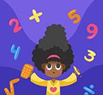 女孩和数学数字