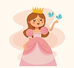 粉色公主和鸟