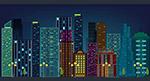 夜晚都市建筑