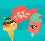 夏季表情雪糕
