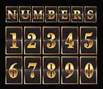 金色数字设计