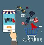 手机和购物车矢量