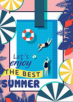夏季游泳池海��