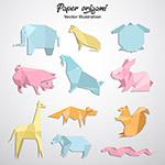 彩色动物折纸