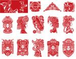 中国剪纸矢量
