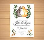 猫咪婚礼邀请卡