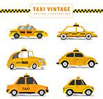黄色复古出租车