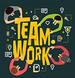 团队合作艺术字