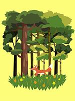 森林狐狸风景