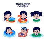 可爱夏季度假儿童