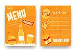 橙色快餐店菜单