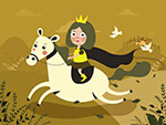 骑白马的公主