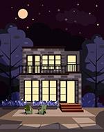 夜晚私人住宅