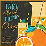 新鲜橙汁矢量