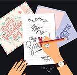 写情书的手臂