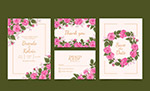 瑰花婚礼卡片