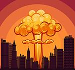 爆炸升起的蘑菇云