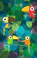 树林鹦鹉矢量