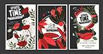 抽象春季花卉海报