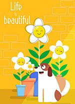 花盆和宠物狗
